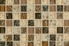 "Glass Mosaic - Crystalized Glass Blend Series - Pacific Dunes Blend / 1""x1"""