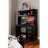 Found it at Wayfair - Madison Desk with Lighted Hutch