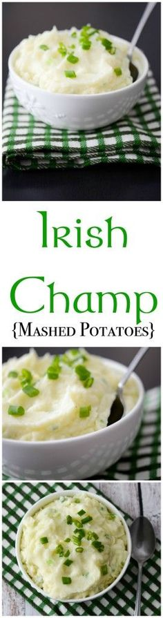 Even if you're not of Irish decent, this recipe for Irish Champ (Mashed Potatoes) is tasty and simple to make.