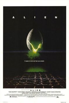 "Ridley Scott's ""Alien"" (1979).  My dad took me to see this in the theater. I was 3. Different times haha"