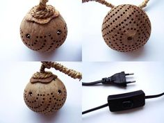 Pendant Lighting – Coconut lamp, giraf, small, handmade from coconut – a unique product by Siamrose on DaWanda