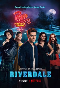 Cole Sprouse, Lili Reinhart, Camila Mendes, K. Apa, and Madelaine Petsch in Riverdale Riverdale Series, Kj Apa Riverdale, Riverdale Poster, Riverdale Netflix, Riverdale Cast, Watch Riverdale, Archie Comics, Pretty Little Liars, The Flash 2014