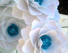 Paper Flowers Wedding Bouquet Home Decor by morepaperthanshoes