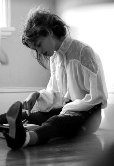 a really beautiful blouse, that worn with a camisole would be so pretty with skirts you already have