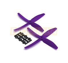 2x HQProp Quad-Blade Propeller - Ummagawd Purple (5x4x4)