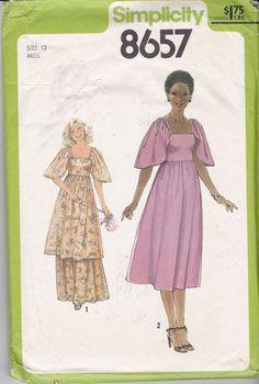 Vintage Simplicity Sewing Pattern 8657 Raised Waist by Ziatacraft