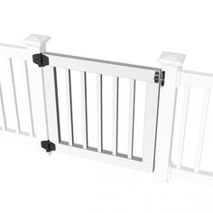 RDI Standard Gate Kit for 36 in. Square Baluster Original Rail, Deck Rail, Porch Rail or Titan - The Home Depot Porch Gate, Deck Gate, Deck Railings, Front Porch, Vinyl Gates, Baby Gates, Dog Gates, Child Gates, Vinyl Deck