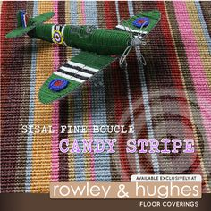 Add some colour to your life,Naturally! | Sisal Fine Boucle Candy Stripe | @rowleyandhughes #sisal #carpets #capetown