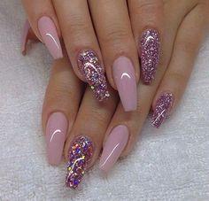 Glittery & pink