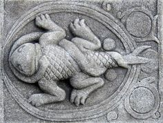 Ancient relief of the zodiac scorpio  Stock Photo