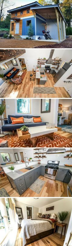 The Urban Micro House: a 600 sq ft home from Wind River Tiny Homes #urbanecohouse