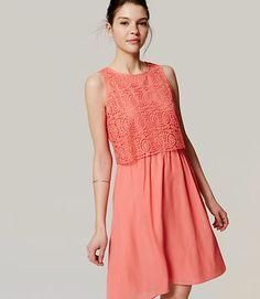 Image of Circle Lace Bodice Dress