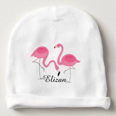 Niedliche Paare heißes Rosa-Flamingos Babymütze