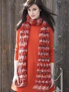 Basketweave Cable Scarf | Yarn | Free Knitting Patterns | Crochet Patterns | Yarnspirations