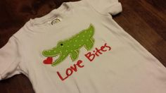 Love Bites Alligator ShirtFREE SHIPPING by SouthernBlingBowtiqu, $23.00