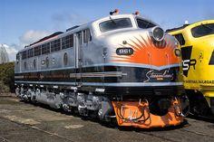 Clyde Engineering Diesel locomotive from EMD F7 series in Goulburn, Australia