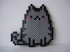 Perler Bead Kitten     Ironed On Both Sides For Extra Durability    Comes In Many Colors!    4 High  4 1/2 Wide