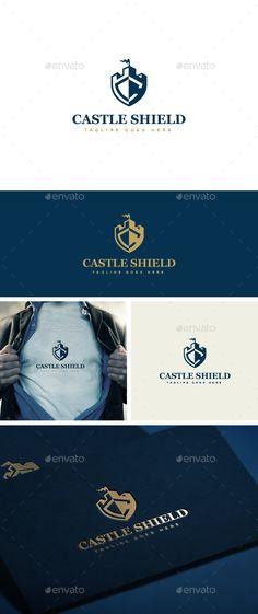 Castle Shield Logo Template — Photoshop PSD #shield #finance • Download here → https://graphicriver.net/item/castle-shield-logo-template/13753452?ref=pxcr
