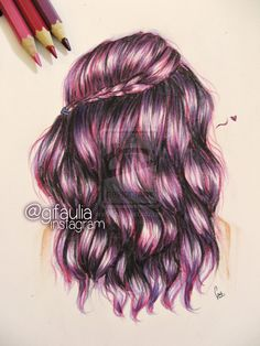 Purple Hair Drawing by GFArt08 on deviantART