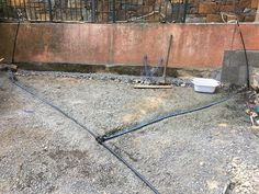 A little planning ahead, today we installed irrigation pipes for watering plants in the courtyard. These were done with mains pressure polly pipe  because they are going to be buried under the paving and we don't want any leaks. We also pressure tested them just to make sure everything was ok