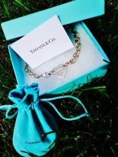 Tiffany Blue Ribbon Swarovski Bracelet, $18.14