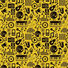 EPS Image Music Seamless Pattern with Icons and Pictograms Template • Click here to download ! http://graphicriver.net/item/music-seamless-pattern-with-icons-and-pictograms/3352970?ref=pxcr