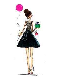 Birthday Girl Art Print by Melsysillustrations - X-Small