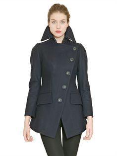 VIVIENNE WESTWOOD / ANGLOMANIA ASYMMETRIC WOOL CLOTH COAT