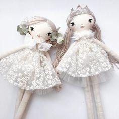 These Little Treasures...  .  .  .  #smalllola #handmade #australianmade #dolls #princess #girl #clothdoll #dollsofinstagram #sweet #theselittletreasures