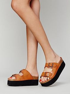 Paige Platform Footbed - i want these, they are only $80 so i might get them after my first paycheck