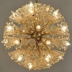"""Large Chandelier """"Snowball/Pusteblume"""" by Emil Stejnar, Austria 1955   From a unique collection of antique and modern chandeliers and pendants  at http://www.1stdibs.com/furniture/lighting/chandeliers-pendant-lights/"""