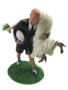 rugby tackle wedding cake topper rugby wedding on weddings soccer wedding and 19466