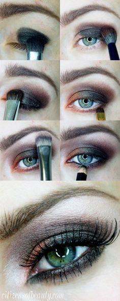 Use this step by step guide for a black and orange halloween eyeshadow design thats simple to recreate!