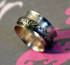 Ornate Floral Spinner Ring by Purple Peony