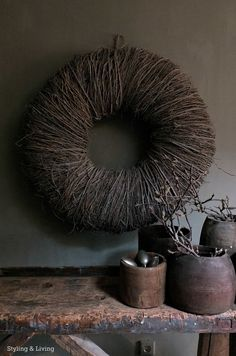 Styling & Living | Grote, stoere krans 85cm | www.stylingandlivingshop.nl