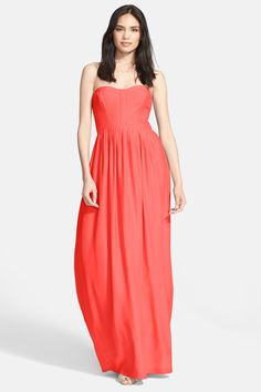'Bayou' Strapless Silk Maxi Dress by Parker on @nordstrom_rack