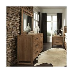 Waverly Six Drawer Modern Rustic Dresser With Full Extension Drawers U0026  Metal Bar Pulls By Cresent Fine Furniture | Rustic Dresser, Fine Furniture  And ...