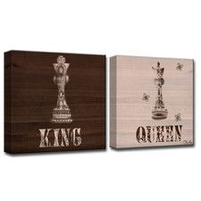 """Her King His Queen"" by Olivia Rose 2 Piece Graphic Art on Wrapped Canvas Set"