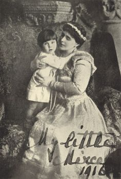 Marie and her baby. Prince Mircea's brown eyes, in contrast to Marie's and Ferdinand's blue eyes, were one of the clues that he was not fathered by King Ferdinand but by dark-eyed Stirbey. Romanian Royal Family, Greek Royal Family, Michael I Of Romania, Elisabeth I, Young Prince, Baby Prince, Princess Alexandra, Head Of State, Kaiser