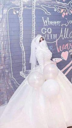 Wedding Abaya, Wedding Hijab Styles, Muslimah Wedding Dress, Disney Wedding Dresses, Wedding Dress With Veil, Pakistani Wedding Dresses, Formal Dresses For Weddings, Bridal Hijab, Bridal Gowns