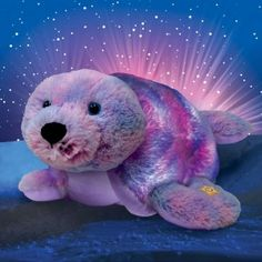 Pillow Pets Glow Pets Shimmering Seal