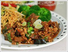 Hoisin Glazed Tofu and Eggplant with Thai Basil