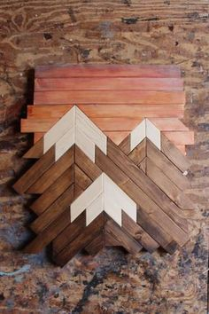 Mountain Wood ArtMountain RangeModern Wood ArtWood Wall
