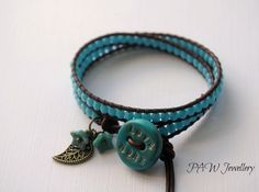 Boho Beaded Leather Wrap Bracelet £11.00