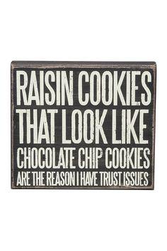 Trust Issues Box Sign on @HauteLook