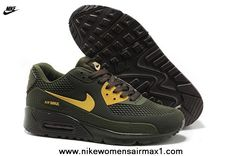 Cheap 2014 New Hunter Green Nike Air Max 90 Mens Shoes HYP PRM KPU TPU