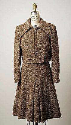 Suit House of Patou  (French, founded 1919) Department Store: Saks Fifth Avenue (American, founded 1924) Date: 1971–72 Culture: French Medium: wool