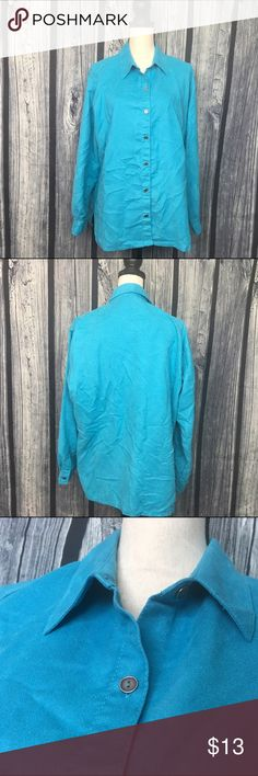 Chicos Size 3 or (XL) nice Blue long sleeve Chicos Size 3 or (XL) nice Blue Dressy long shirt good condition open to offers. C35 Chico's Tops Button Down Shirts