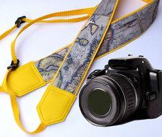 DSLR / SLR Camera Strap. Camera accessories. Vintage by InTePro