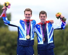 Alistair Brownlee wins gold whilst his brother Jonathan Brownlee bags bronze in the Triathlon.
